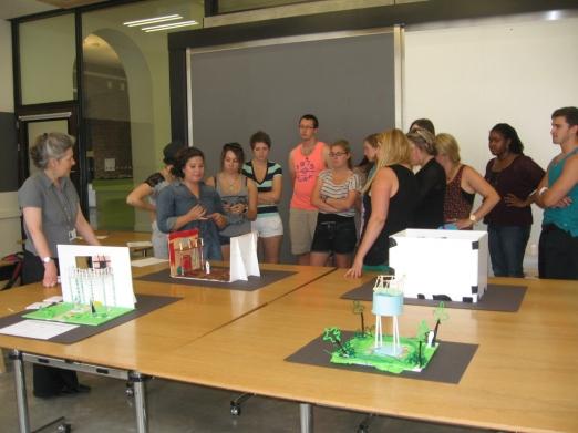 Workshop on set design at the V & A, July 2013