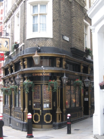 The Cockpit Pub, not there in Shakespeare's time