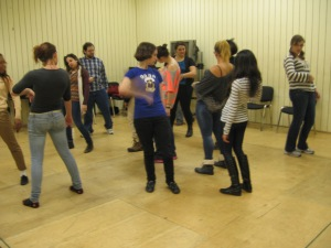 'Commedia' workshop at the NT (students from SUNY)