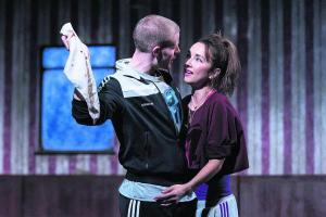 Steven Miller (Iago), Leila Crerar (Emilia) and the Handkerchief (oxfordtimes.co.uk)