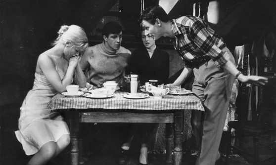 Angry young man … Kenneth Haigh (right) as Jimmy Porter, with Helena Hughes, Alan Bates and Mary Ure